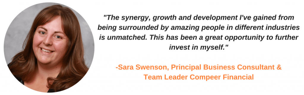 "The synergy, growth, and development I've gained from being surrounded by amazing people in different industries is unmatched. This has been a great opportunity to further invest in myself."" - Sara Swenson"